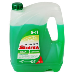 SIBIRIA Antifreeze ОЖ-40 G11 зеленый (10 кг)