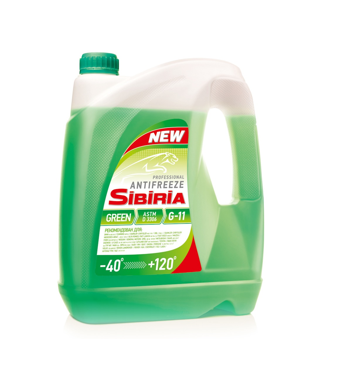 SIBIRIA Antifreeze ОЖ-40 G11 зеленый (5 кг)