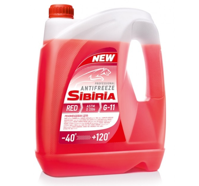 SIBIRIA Antifreeze ОЖ-40 G11 красный (10 кг)