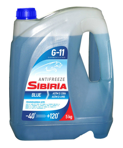 SIBIRIA Antifreeze ОЖ-40 G11 синий (5 кг)