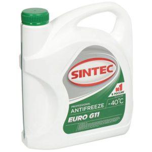 Sintec ANTIFREEZE EURO (зеленый) G11 (3 кг)