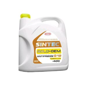 Sintec ANTIFREEZE GOLD (желтый) G12 (5 кг)