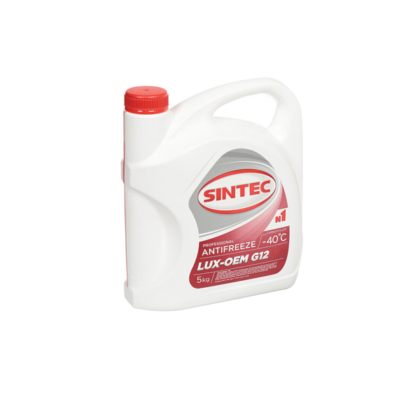 Sintec ANTIFREEZE LUX (красный) G12 (5 кг)