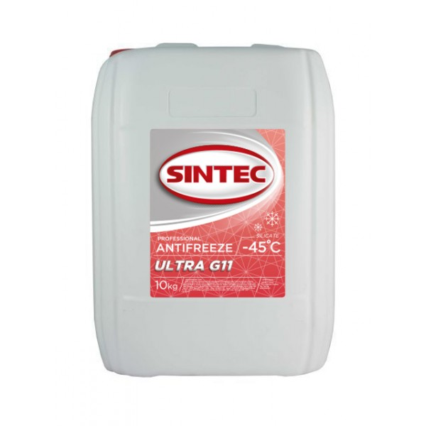 Sintec ANTIFREEZE ULTRA (красный) G11 (10 кг)