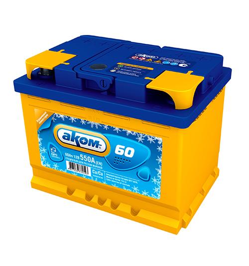 Аккумулятор Аком ЗИМА 60Ah-550 лев.+