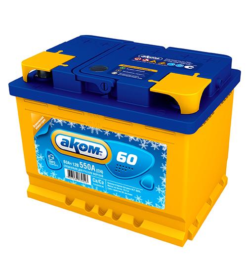 Аккумулятор Аком ЗИМА 60Ah-550 прав.+