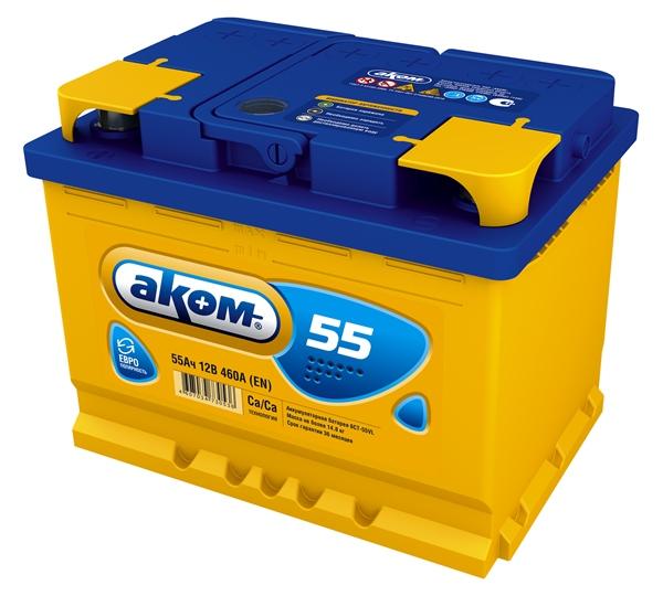 Аккумулятор Аком 55Ah/460 лев.+ /242x177x190/