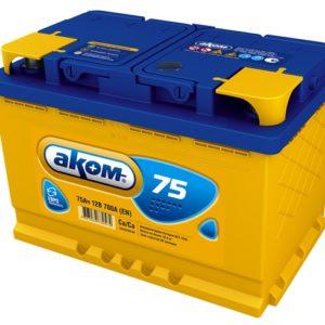 Аккумулятор Аком 75Ah/700 прав.+ /275x177x190/