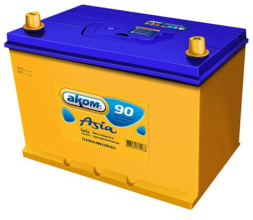 Аккумулятор Аком Asia 90Ah/790 прав.+ /305x173x225/