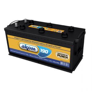 Аккумулятор Аком 190Ah1200 прав.+ конусболт