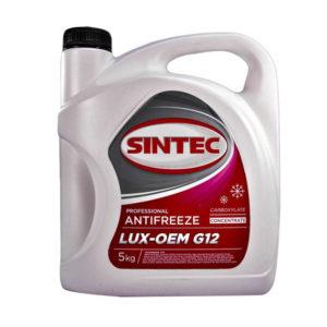 Sintec ANTIFREEZE LUX G12 концентрат (5 кг)