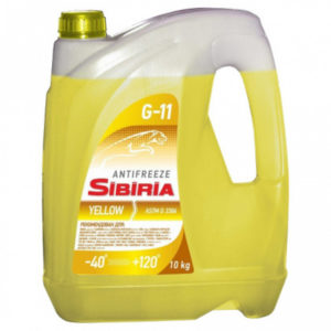 SIBIRIA Antifreeze ОЖ-40 G11 желтый (10 кг)